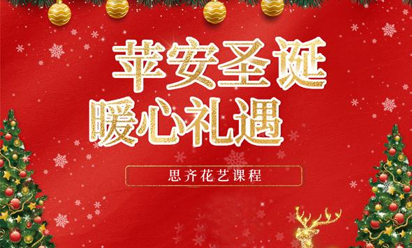 """""""苹""""安圣诞,暖心""""礼""""遇 圣诞花艺公开课即将开始"""