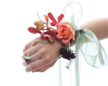 插花作品-新娘手腕花