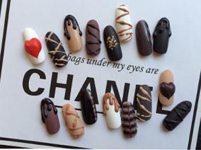 美甲教学-巧克力美甲教学